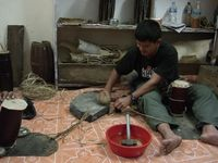 Nepali drum making