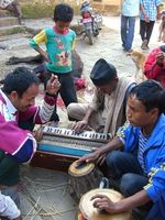 jamming in a village in the Kathmandu Valley