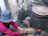 sine making in a village in the Kathmandu Valley