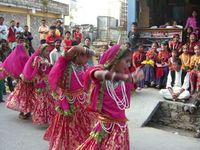 dancing girls at festival time