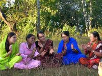 village women singing in Palpa, Nepal
