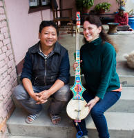 with local well respected Tibetan lute maker