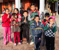 children at an orphanage where the Mountain Music Project started a music education program in the Kathmandu Valley, Nepal